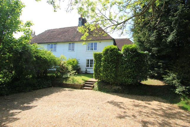Thumbnail Semi-detached house for sale in Hawkhurst Road, Hartley, Cranbrook, Kent