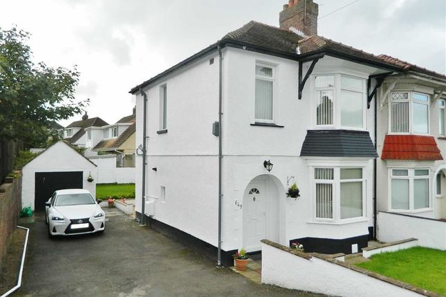 Thumbnail Semi-detached house for sale in Middle Road, Ravenhill, Swansea