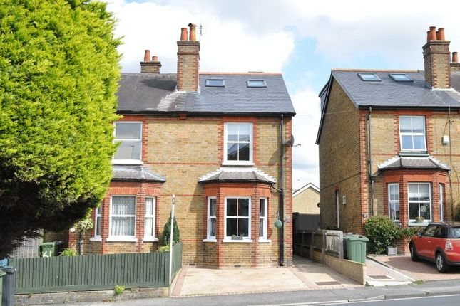 Thumbnail Semi-detached house for sale in Burgh Heath Road, Epsom