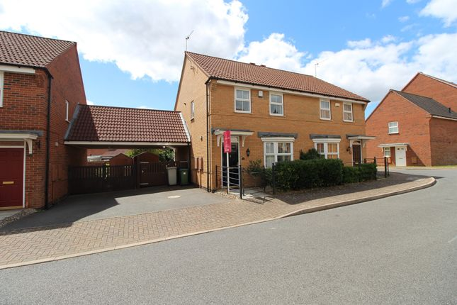 Thumbnail Semi-detached house for sale in Siskin Road, Uppingham, Oakham