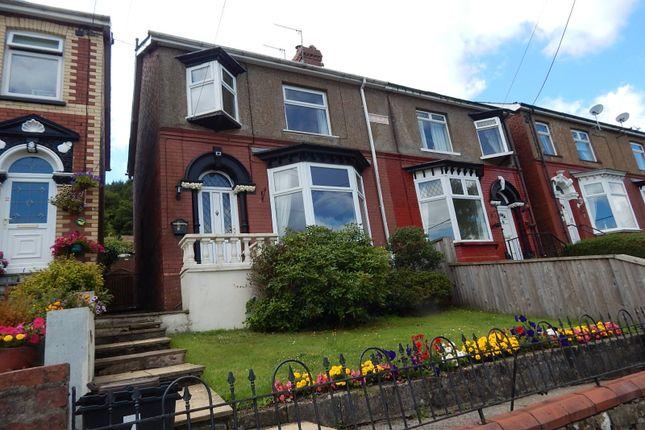 Thumbnail Semi-detached house to rent in Fairfield Terrace, Wainfelin, Pontypool