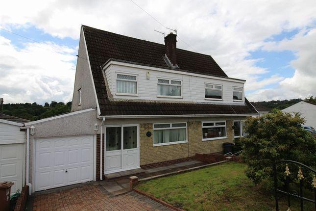 Thumbnail Semi-detached house for sale in Duffryn Close, Penpedairheol, Hengoed