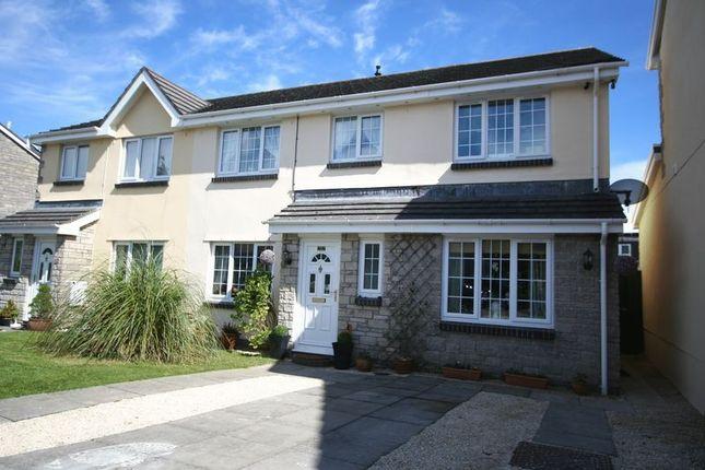 Thumbnail Semi-detached house for sale in Heol Ger-Y-Felin, Llantwit Major
