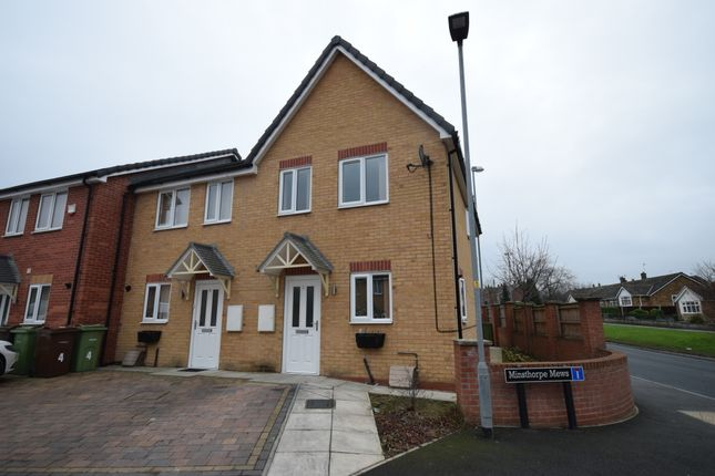 Thumbnail Semi-detached house to rent in Minsthorpe Mews, South Elmsall, Pontefract