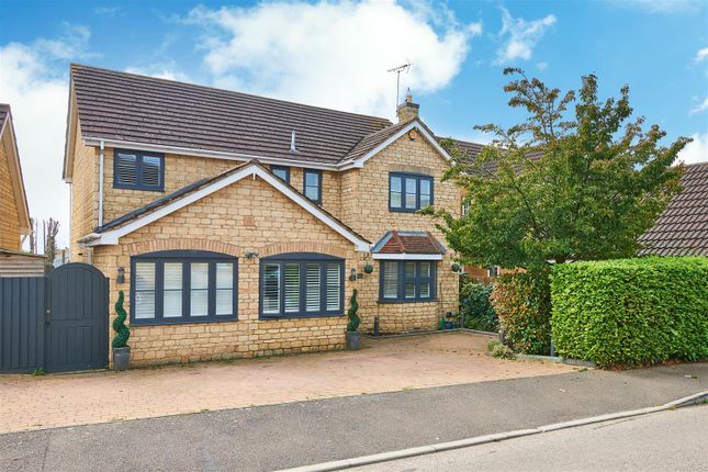 Thumbnail Detached house for sale in Bramblewood Road, Weldon, Corby