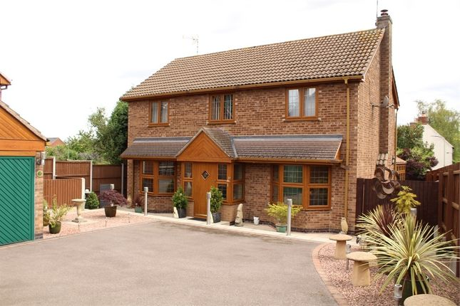 Thumbnail Detached house for sale in Roman Close, Claybrooke Magna, Lutterworth