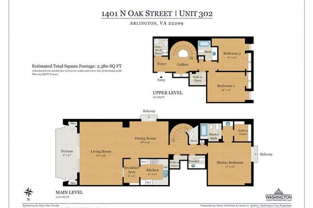 Thumbnail Property for sale in 1401 N Oak St #302, Arlington, Virginia, 22209, United States Of America