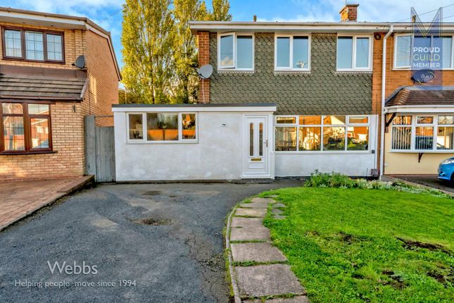 Thumbnail Semi-detached house for sale in Lingfield Drive, Great Wyrley, Walsall