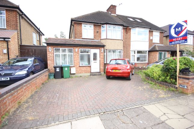 Thumbnail Semi-detached house to rent in Hibbert Avenue, Watford