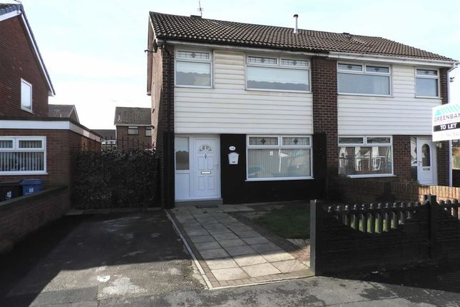 Thumbnail Semi-detached house to rent in Swallow Close, Kirkby, Liverpool