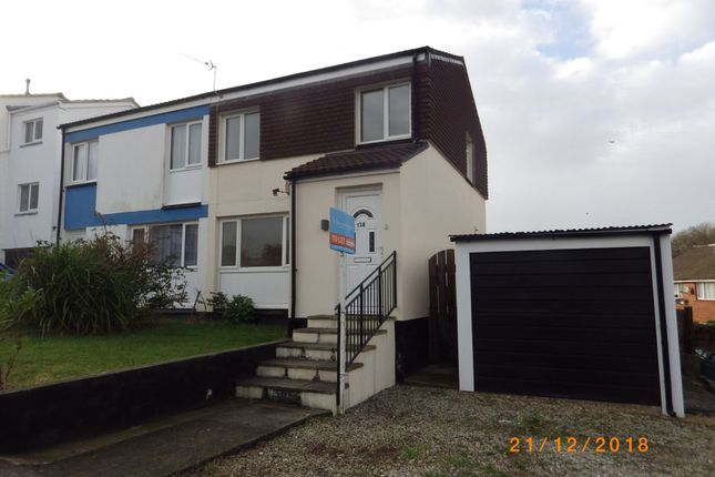 Thumbnail Semi-detached house to rent in Moreton Park Road, Bideford