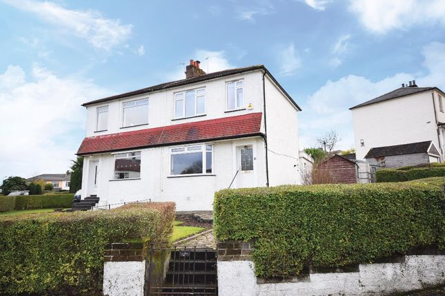 Thumbnail Semi-detached house for sale in Rockmount Avenue, Thornliebank, Glasgow