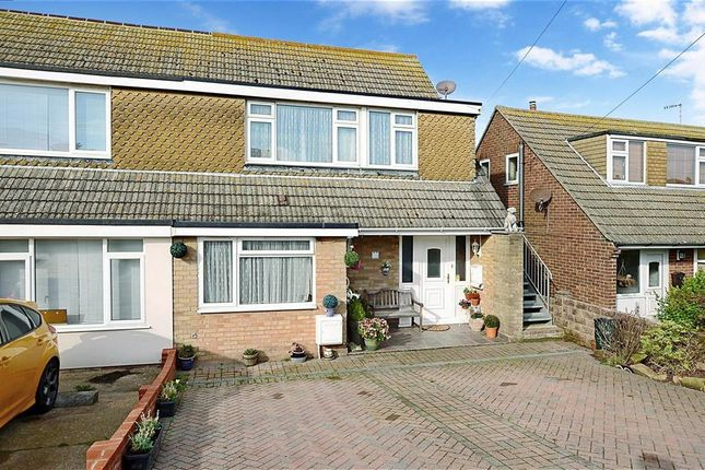 Thumbnail Semi-detached house for sale in Fairlight Avenue, Telscombe Cliffs, East Sussex