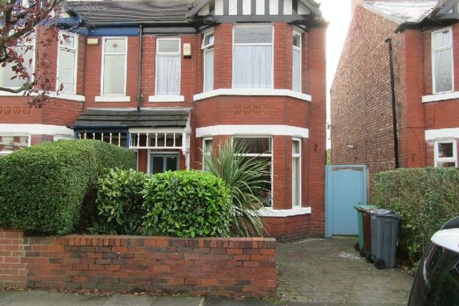 Thumbnail Semi-detached house for sale in Nicolas Road, Chorlton, Manchester
