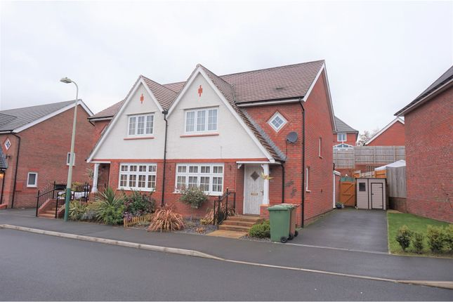 Thumbnail Semi-detached house for sale in Kingfisher Way, Hengoed