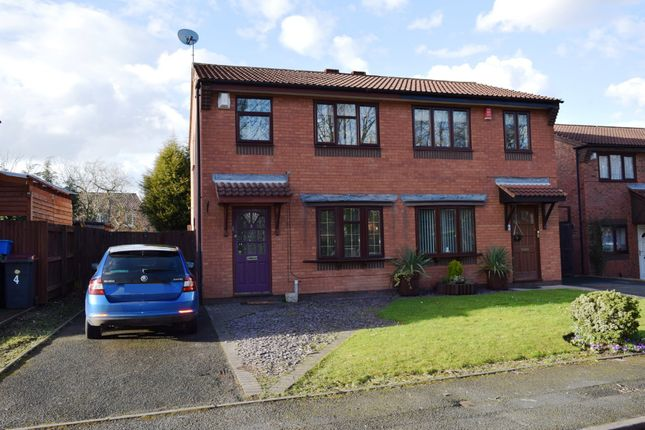 Thumbnail Semi-detached house for sale in Dunlin Close, Leegomery, Telford, Shropshire