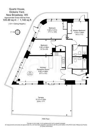 Floorplan of Dickens Yard, 12 New Broadway, Ealing, London W5