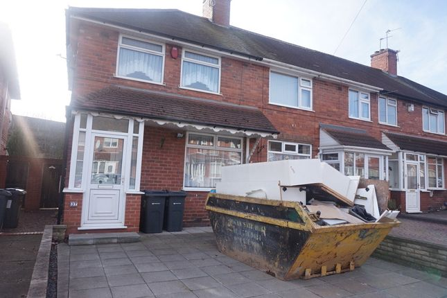 Thumbnail End terrace house for sale in Wingfield Road, Great Barr, Birmingham