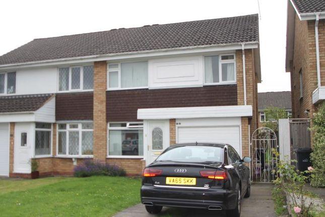 Thumbnail Semi-detached house to rent in Mendip Road, Halesowen