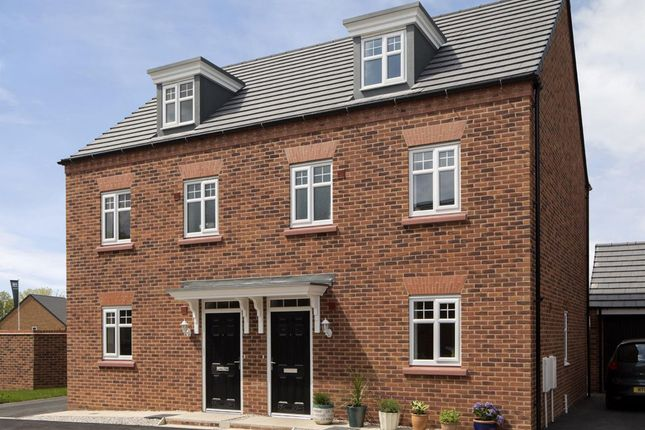 "Thumbnail Semi-detached house for sale in ""Nugent"" at Fen Street, Brooklands, Milton Keynes"