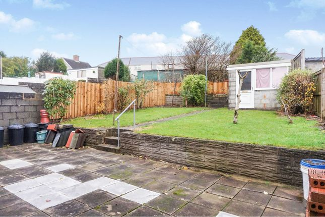 Rear Garden of Teilo Crescent, Mayhill, Swansea SA1