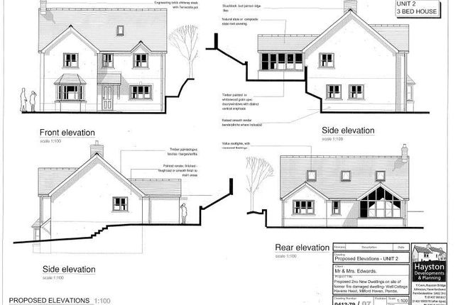 Proposed Plot 2 of Plot 1 And Plot 2, Well Cottage, Liddeston Road, Havens Head SA73