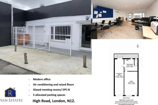 Existing of High Road, London N12