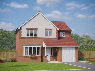 Thumbnail Detached house for sale in The Abersoch, Plot 35, St George Road, Abergele, Conwy