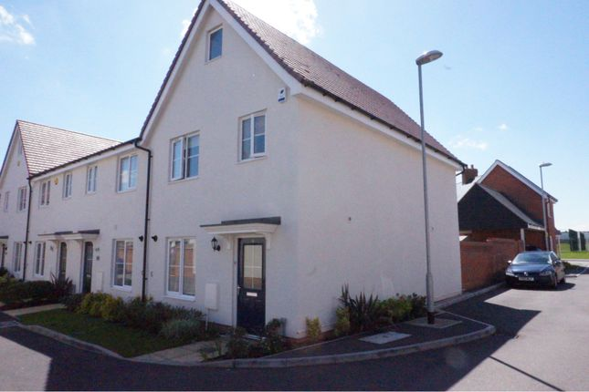 Thumbnail End terrace house for sale in Duncombe Close, Witham