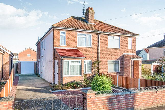 Thumbnail Semi-detached house for sale in Blenheim Road, Sprowston, Norwich