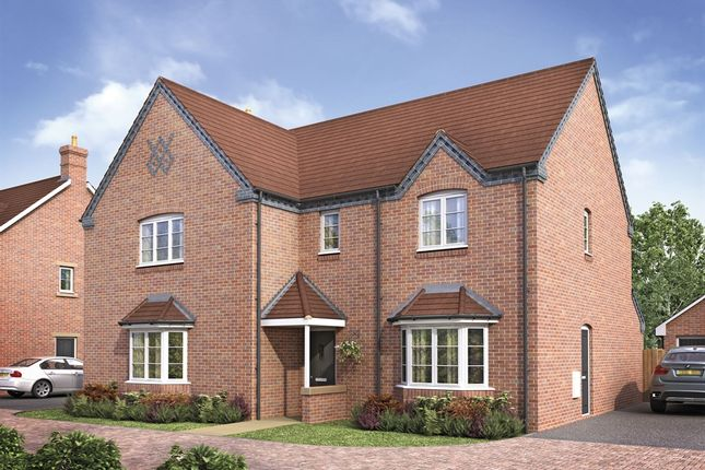 "Thumbnail Detached house for sale in ""The Charlecote"" at Ettington Road, Wellesbourne, Warwick"