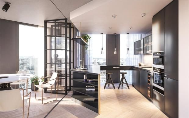 Thumbnail Flat for sale in One Crown Place, Hackney
