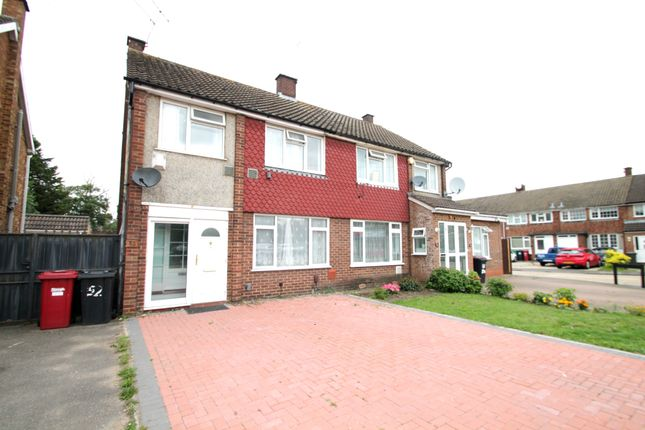 Thumbnail Semi-detached house to rent in Coleridge Crescent, Colnbrook, Slough