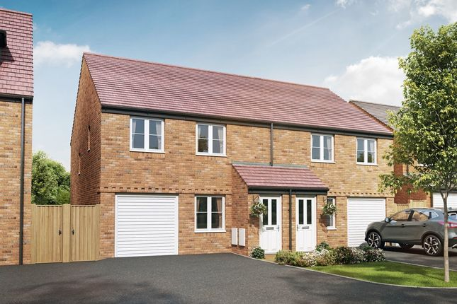 "Thumbnail Semi-detached house for sale in ""The Chatsworth"" at Cranford Road, Kettering"