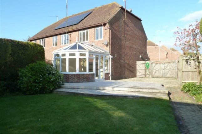 Thumbnail Semi-detached house to rent in Spring Meadows, Great Shefford, Hungerford