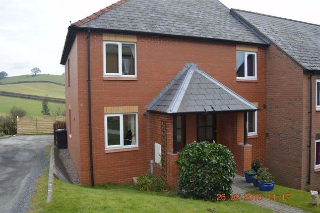Thumbnail Terraced house to rent in 13, Heather Close, Llanllwchaiarn, Newtown, Powys