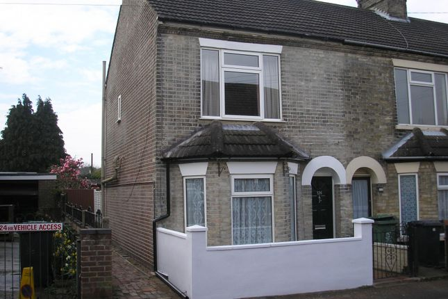 Thumbnail End terrace house to rent in Trafalgar Road West, Gorleston