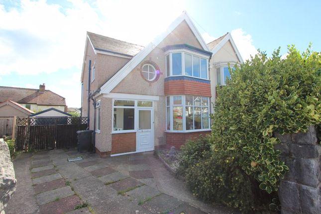 Thumbnail Semi-detached house for sale in Shaftesbury Avenue, Penrhyn Bay, Llandudno