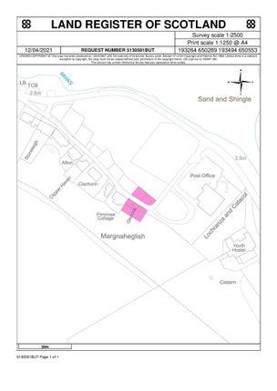 Thumbnail Land for sale in Site Of Glencoe, Lochranza