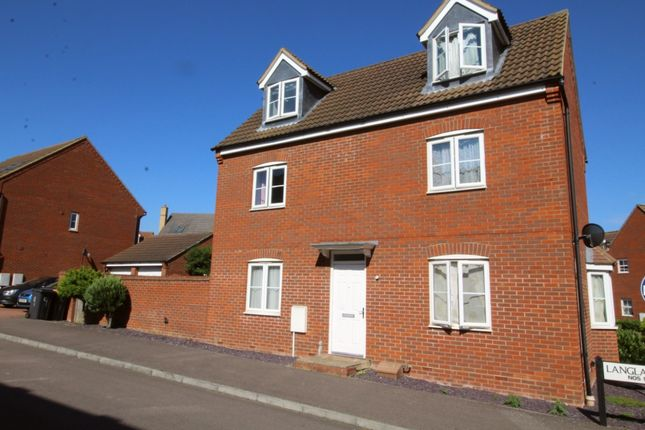 Thumbnail End terrace house for sale in Langlands Road, Bedford, Bedfordshire