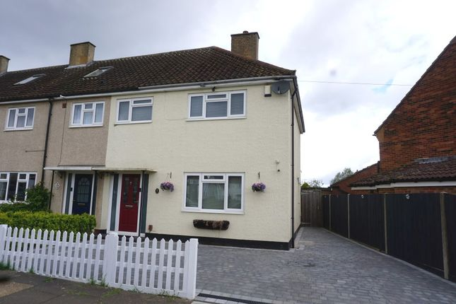 Thumbnail End terrace house for sale in Hereford Way, Chessington