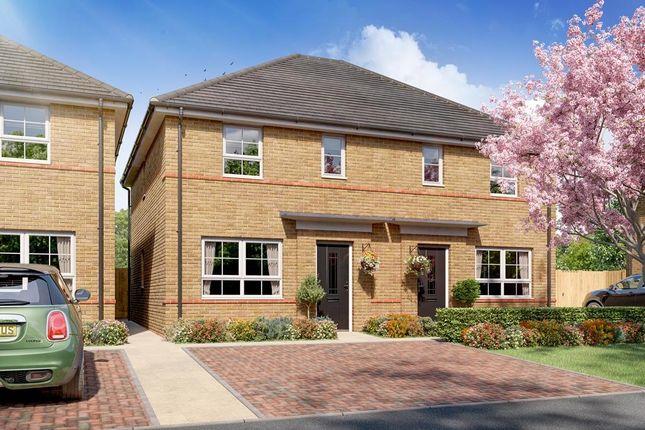 "Thumbnail Semi-detached house for sale in ""Ellerton"" at Braeburn Drive, Appleton, Warrington"
