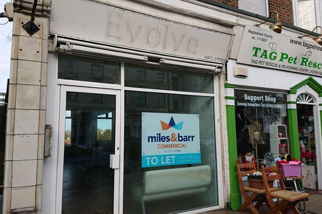Thumbnail Commercial property to let in High Street, Broadstairs