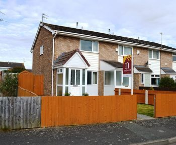 Thumbnail Town house to rent in Brunsfield Close, Moreton, Wirral