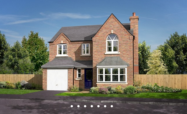 Thumbnail Detached house for sale in The Bramhall, Two Gates, Tamworth