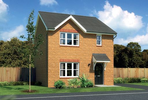 "Thumbnail Detached house for sale in ""Castlevale"" At Ffordd Eldon, Sychdyn"