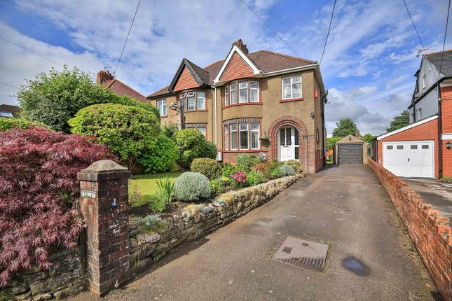 Thumbnail Semi-detached house for sale in Wenallt Road, Rhiwbina, Cardiff