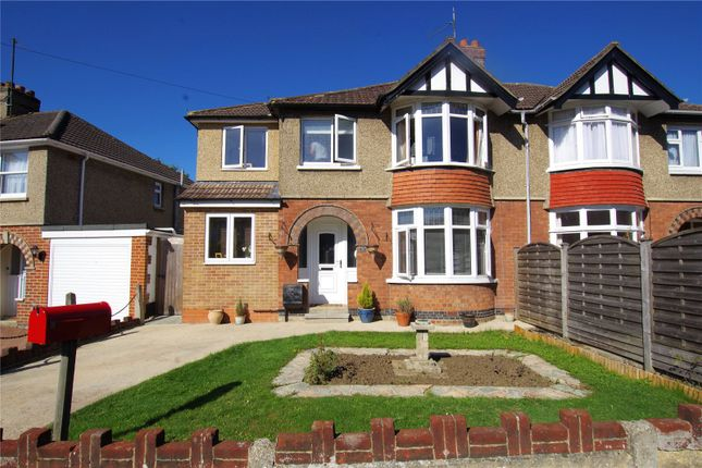 Thumbnail Semi-detached house for sale in Tismeads Crescent, Old Town, Swindon, Wiltshire