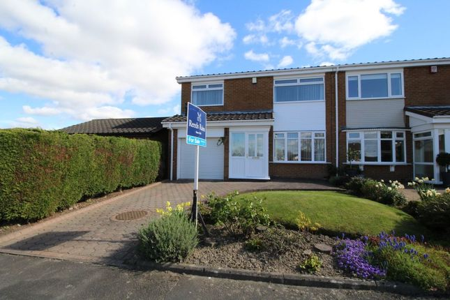 Thumbnail Semi-detached house for sale in Jonquil Close, Chapel Park, Newcastle Upon Tyne
