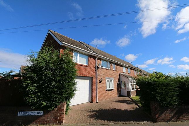 Thumbnail Semi-detached house for sale in 1, Brenkley Close, Dinnington, Newcastle Upon Tyne, Tyne And Wear